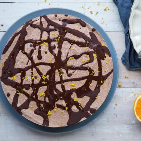 Raw Chocolate Cake with Orange