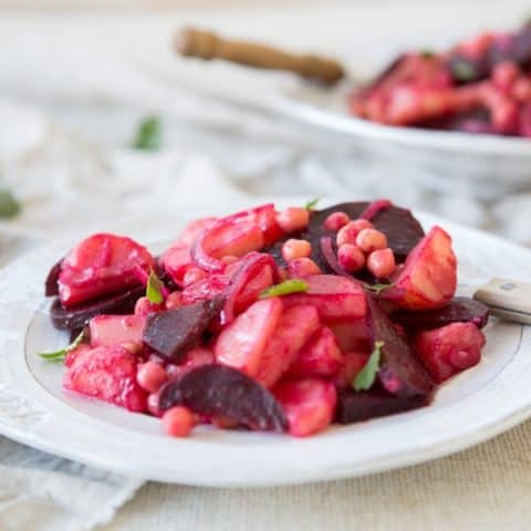 Vegan Potato, Beetroot and Chickpea Salad