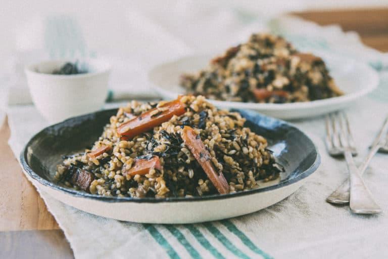 Brown Rice Arame (Macrobiotic Recipe)