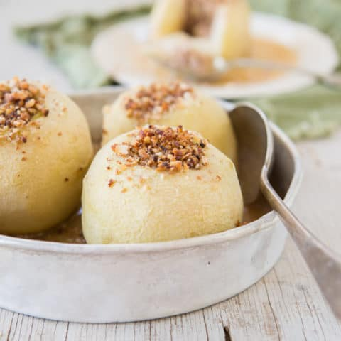 Nut and Date Stuffed Apples
