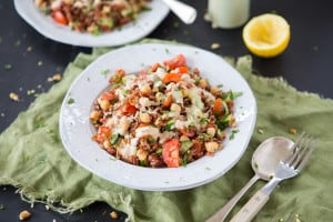 Vegan Red Rice Salad with Tahini Dressing by The Minimalist Vegan