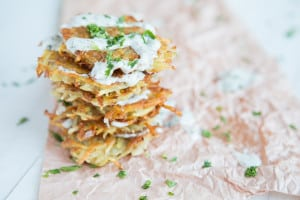 Easy Vegan Hash Browns With Caper Mayo