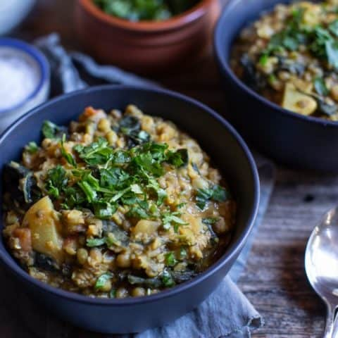 Hearty Mung Bean Stew with Kale
