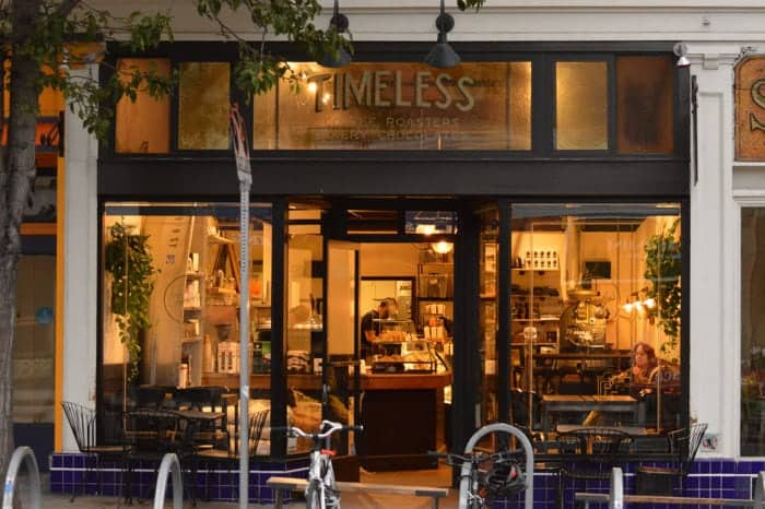 timeless coffee - cafe practising vegan activism