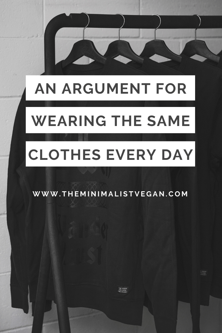 An Argument For Wearing The Same Clothes Every Day