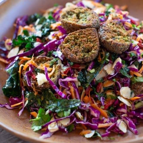 Rainbow Falafel Salad