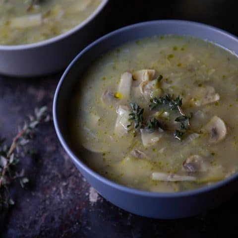 Vegan Mushroom and Thyme Soup