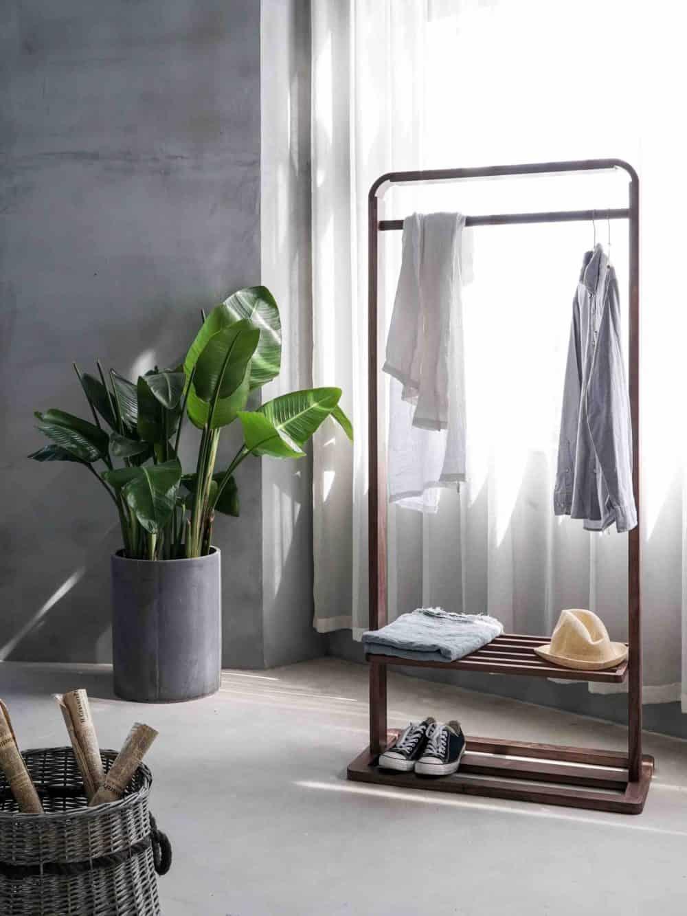 Open wardrobe rack