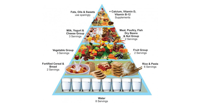 Example of food pyramid.
