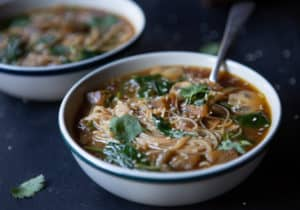 Vegan Miso Soup With Veggies & Noodles (Gluten-Free)