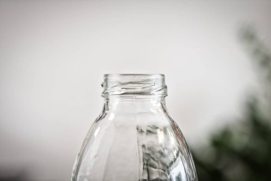 clear glass bottle for sustainable minimalist living