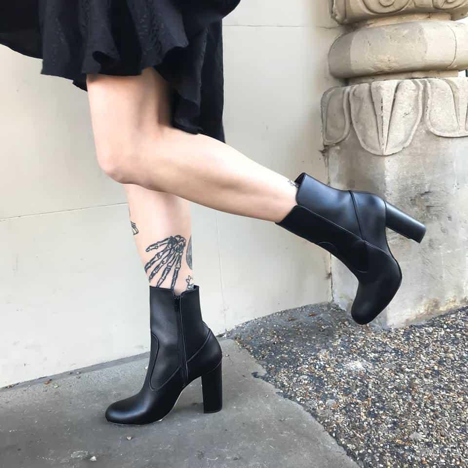 Example of vegan boots made using PU. Photo credit beyond-skin.com