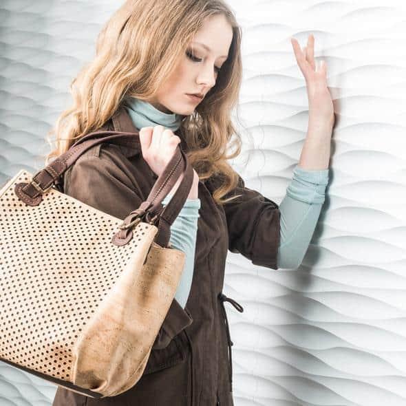Example of cork handbag