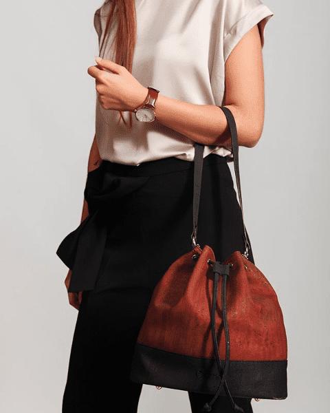 example of a cork handbag