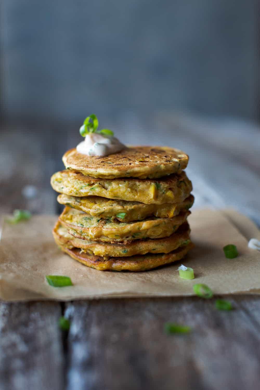 Corn and Zucchini Fritters (Vegan)