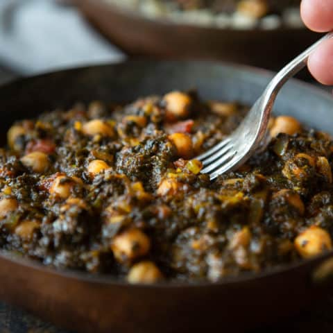 Ghanaian Spinach Stew with Chickpeas
