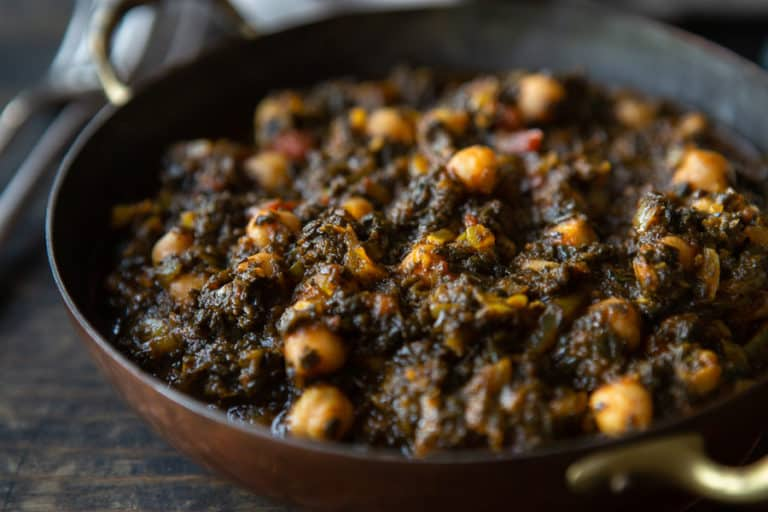 Ghanaian Spinach Stew with Chickpeas (Vegan)