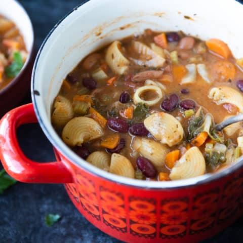 Hearty Vegan Minestrone Soup