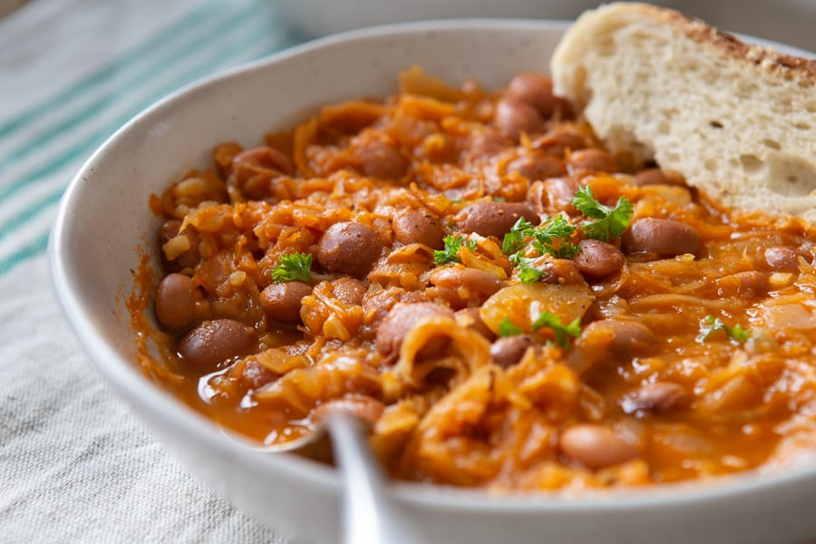 Sauerkraut and Bean Stew (Slovenian Jota) | The Minimalist Vegan