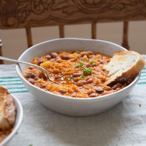 Sauerkraut and Bean Stew (Slovenian Jota)