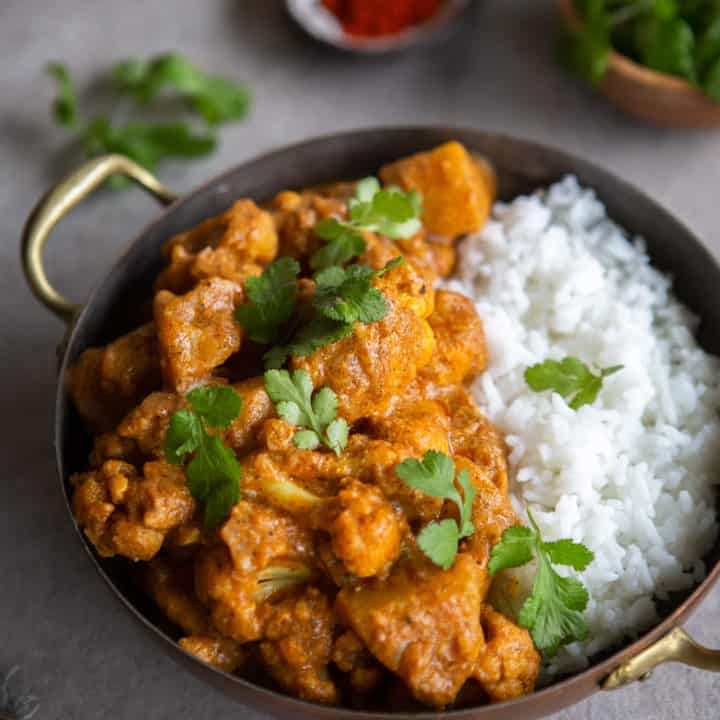 Cauliflower Potato Curry with Coconut Milk