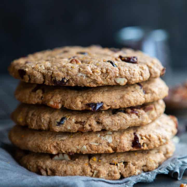 Jumbo Healthy Vegan Breakfast Cookies (Gluten-Free)