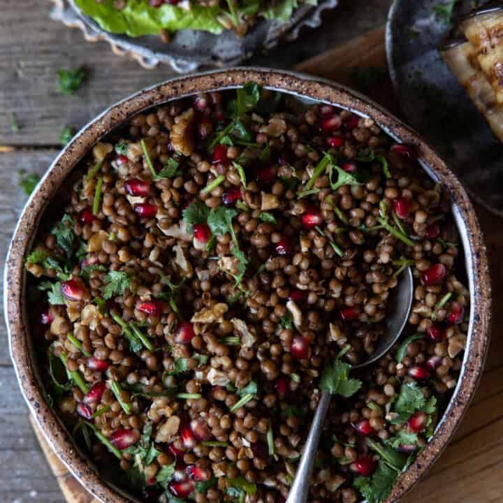 Quick & Simple Vegan Lentil Salad