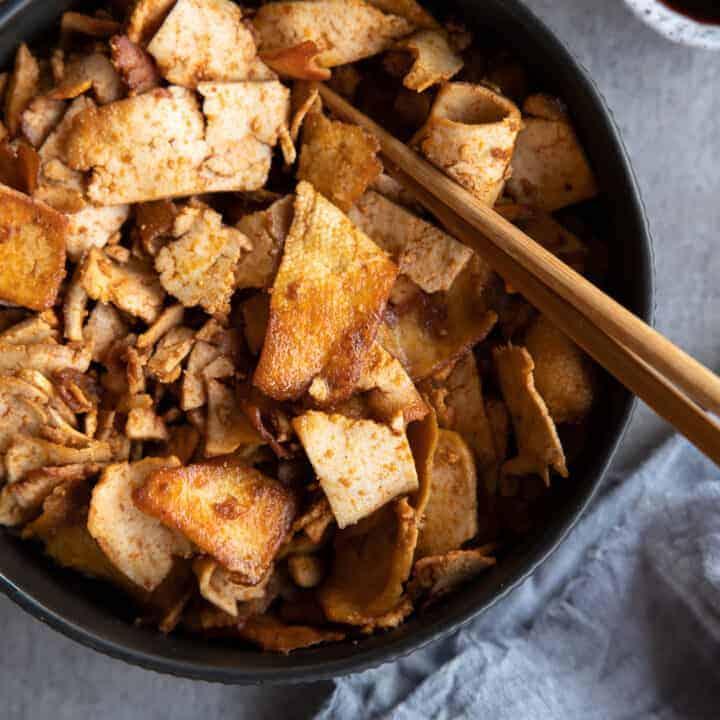 Vegan Crispy Shredded Tofu